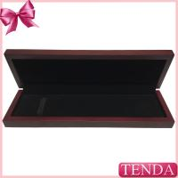 China Glossy Vanishing Lacquer Coated Painting Jewellery Wooden Bracelet Boxes with Elastic Band wholesale
