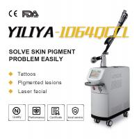 China Top Homogeneous Beam EO Q Switch 1064nm 532nm Long Pulse ND YAG Laser Tattoo Removal For Clinic wholesale