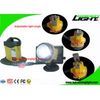 China High Safety Mining Cap Lamp with Cable , Rechargeable Coal Miner Headlamp with Cable Flash Light on sale