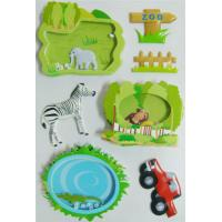 China Decor Reusable 3D Puffy Stickers , Shaker Stickers Zoo Style Handcrafts wholesale