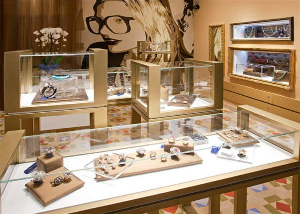 Quality Luxury metal and glass eyeglass display case jewelry and accessory display showsase for sale