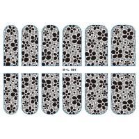 H*L001 Metal Lace Nail Sticker Nail Art Decals Decoration