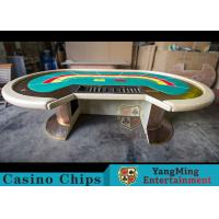 China Waterproof Casino Poker Table / Professional Poker TableWith Leather Handrails wholesale