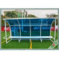 China Football Subs Bench Soccer Field Equipment For Outdoor 8 Seat Team Shelter wholesale
