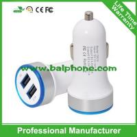 China Most popular products round plug 3.1A double mini usb car charger on sale