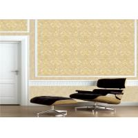 China Classic Embossed Damask Wallpaper , Vintage Embossed Vinyl Wallpaper wholesale