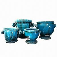 China Ceramic Pot, Ideal for Garden Landscaping, Various Colors and Sizes are Available wholesale