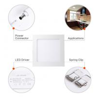 China 18W 8 Inch Dimmable Ultra Thin Square LED Panel Light 120W Incandescent Equivalent wholesale