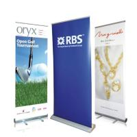 China Waterproof Roll Up Banner Display Dye Sublimation Full Color Printing Reusable wholesale