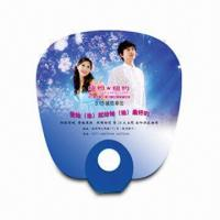 China Hand Fan for Promotional Purposes, Made of PP, Customer's Logo Printings are Available wholesale