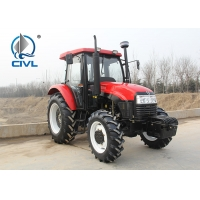 China CIVL554/55HP/4 Wheel drive farm tractor  CIVL554 new 4x4 55hp drive tractor red color wholesale