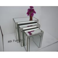 China Interior Mirrored Glass Side Table, Living Room Silver Mirror Side Table wholesale