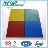 China Childrens Safety Protecting Rubber Mat For Playground of 500 x 500 x 25 cm on sale