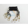 China Flexible Short 52MM Black Tool Tether Lanyard With Fishing Swivel Pin & Hook wholesale