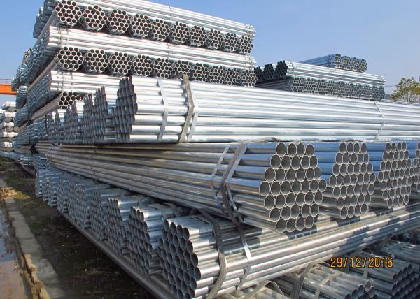 Quality Corrosion Resistance Galvanized Fence Pipe 48.3 * 3.2 / 4mm With Protective Coatings for sale
