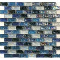 China Black series waving glass mosaic tile for floors and walls boarder on sale