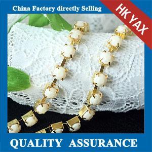 China china A quality crystal rhinestone cup chain;crystal cup chain trimming;cheap crystal cup chain on sale