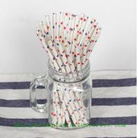 China Five Pointed Star Pattern Colored Paper Straws For Cold Drink , Eco Friendly wholesale