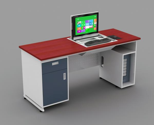 Quality Dustproof High Density MDF Teacher Computer Lab Tables For Schools ISO14001 for sale