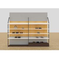 China Leisure Shoe Store Display Shelves / Footwear Display Stands With KD Version wholesale