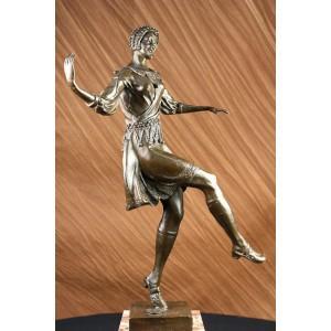 China metal art deco sculpture Chiparus bronze Egyptian dancer / figurine TPE-008 wholesale