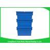 China Contenedores de almacenamiento plásticos de la agricultura con las tapas, cajas de almacenamiento plásticas grandes modificadas para requisitos particulares wholesale