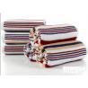 China Jacquard Striped Terry Customized Cotton Bath Towels 60*120cm AZO Free wholesale