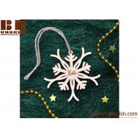 China wooden christmas decoration Snowflake shaped plaque ,word and star for decoration wholesale