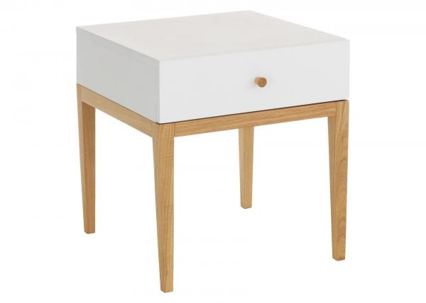 Quality Simple MDF & Solid Wood Nightstand With 1 Drawer Acid And Alkali Resistant for sale