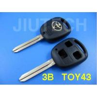 China Toyota car keys shell 3 button Toy43 for sale wholesale