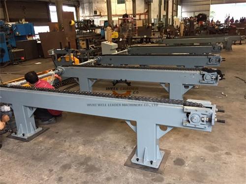 Quality モーターによって運転される輸送の長いビーム、棒、棒および変速機のためのチェーン テーブル for sale