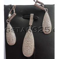 China 925 sterling silver jewelry set manufacturer wholesale
