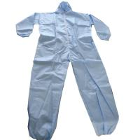 China Breathable Disposable Protective Suit Over Locking Bounded Taped Paint Industry on sale