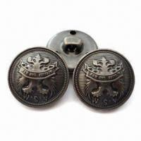 China 19mm Sewed on Shank Button Made of Brass , Customized Designs and Logos are Accepted wholesale