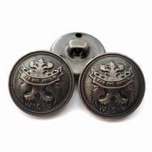 China 19mm costurados no botão de pata feito do bronze, projetos e logotipos personalizados são aceitados wholesale