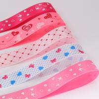 China Custom Logo Decorative Satin Ribbon Various Color Polyester / Cotton Material wholesale