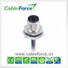 China IP67 que valoraba M12 4pin Uno-cifró la parte posterior masculina del conector del soporte del panel que montaba el tornillo del CNC wholesale