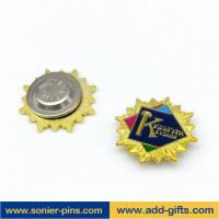 China ADDGIFTS custom magnet lapel pins golden pins with enamel iron pins wholesale