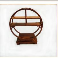 China Classic Solid Wood Small Curio Shelf , Wooden Display Stand With Detailed Hand Craft wholesale