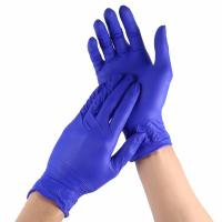 China Anti Alcohol Disposable Nitrile Gloves Non Toxic High Structure Strength on sale