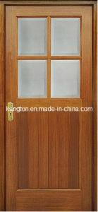 Quality Mahogany Wooden Door (KD24-G) for sale