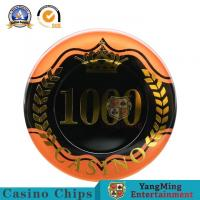 China Two - Tone Sticker UV RFID Casino Chips High Transmittance Acrylic Material 14g on sale