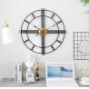 "China Aero Snail 20"" Metal Wall Clock Decorative Round 3D Hollow  non-ticking customized plastic round home decor wall clock wholesale"