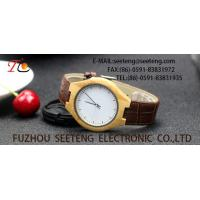 China wholesale   Pu watch  wooden watches alloy case  quartz watch fashion watch concise style pu strap wholesale