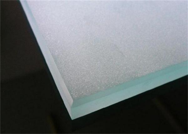 Quality Custom Size Frosted Shower Glass / Acid Etched Glass Panels For Living Room for sale