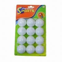 China Table tennis balls, made of cellulose nitrate wholesale