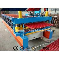 China Durable Roofing Corrugated Sheet Roll Forming Machine High Speed For Roof Panel wholesale