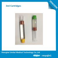 China Pharmaceutical Red Butyl Rubber Glass Cartridge , Local Anesthetic Cartridge wholesale