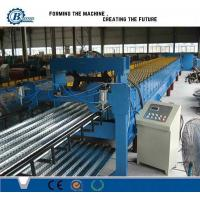 China Metal Steel Floor Deck Roll Forming Machine , Corrugated Roofing Sheet Making Machine wholesale