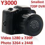 Y3000 8MP Thumb 720P Mini DVR Camera Smallest Outdoor Sports Spy Video Recorder PC Webcam